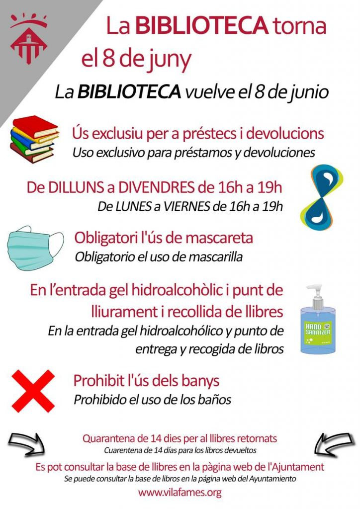 Cartell de la Biblioteca