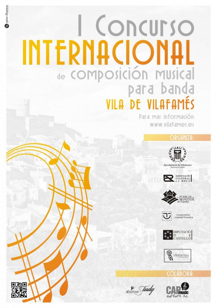 cartel I Concurso Internacional de composición musical para banda