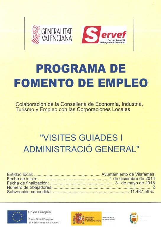 Programa Fomento de Empleo - Salario Joven 2014