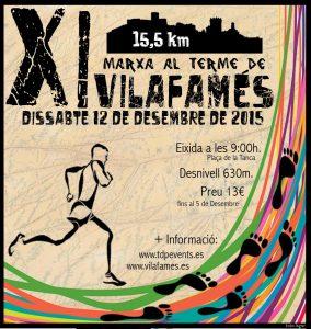Cartell XI Marxa al terme de Vilafamés 2015