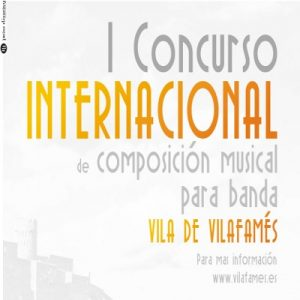 I Concurso Internacional de composición musical para banda