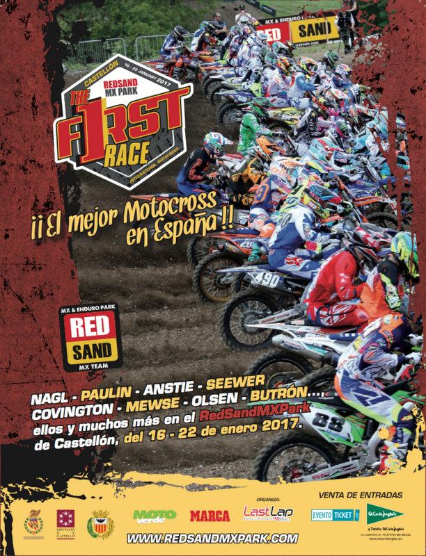 Cartell del motocròs a Vilafamés